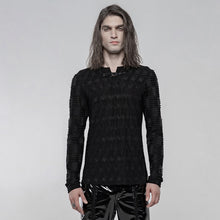 Load image into Gallery viewer, Punk Rave Mens Textured Long Sleeve Top - Kate's Clothing
