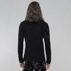 Punk Rave Mens Textured Long Sleeve Top