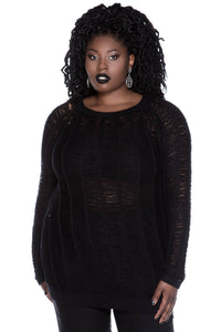 Killstar Tracy Tomb Knit Sweater Plus Size - Kate's Clothing