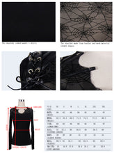 Load image into Gallery viewer, Devil Fashion Spiderweb Mesh Top - Kate's Clothing