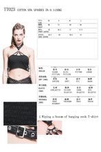 Load image into Gallery viewer, Devil Fashion Skull Crop Top - Kate's Clothing