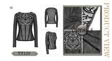 Load image into Gallery viewer, Devil Fashion Baroque Mesh Top - Kate's Clothing