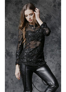 Dark In Love Myra Skull Net Top