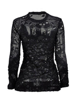 Load image into Gallery viewer, Dark In Love Myra Skull Net Top - Kate's Clothing