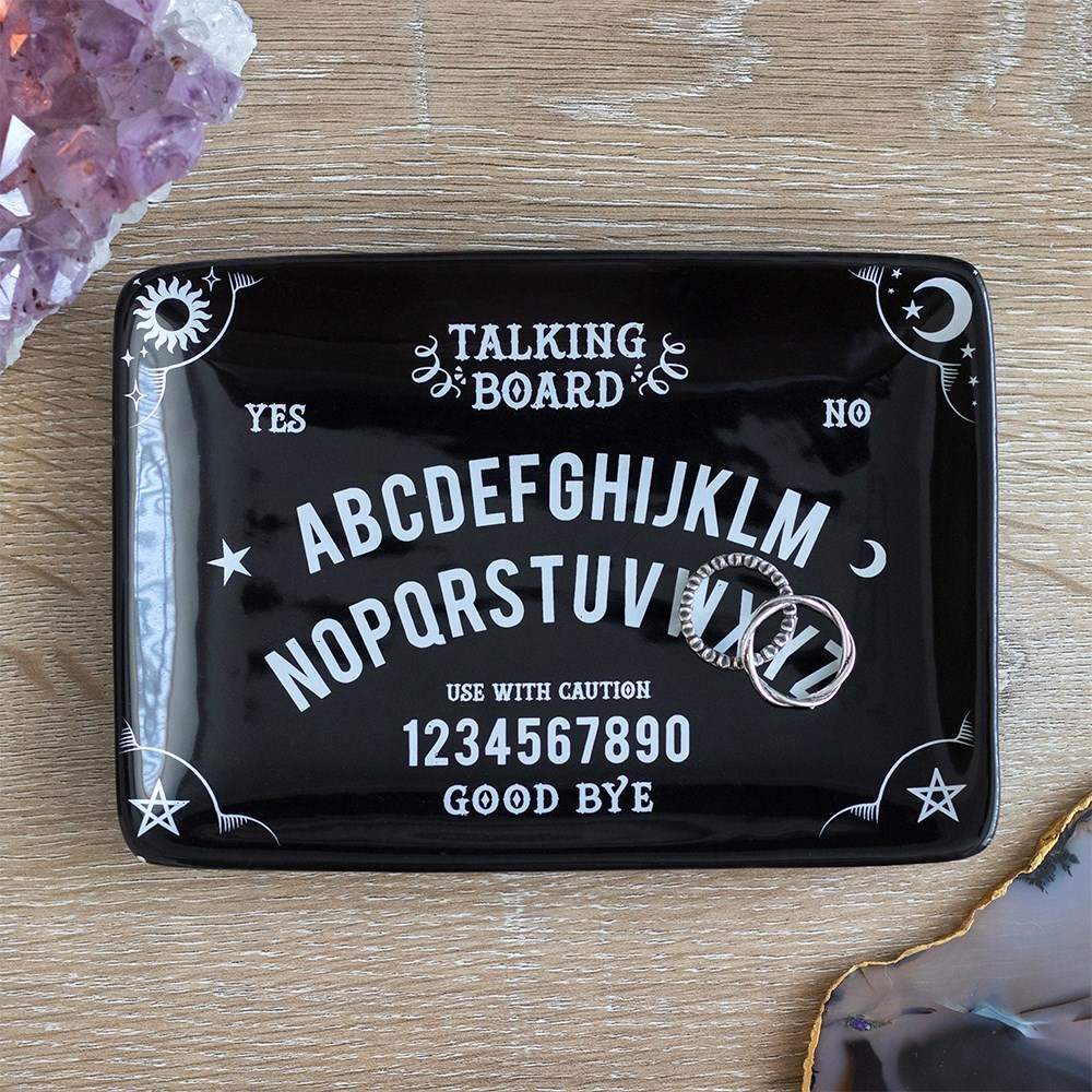 Gothic Gifts Black Talking Board Trinket Dish - Kate's Clothing