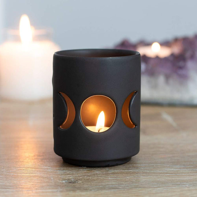 Gothic Gifts Triple Moon Tealight Holder - Kate's Clothing