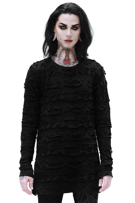 Killstar Undertaker Long Sleeve Mens Top - Kate's Clothing