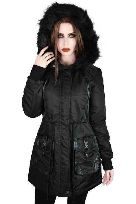 Killstar Unholy Trip Parka Jacket - Kate's Clothing