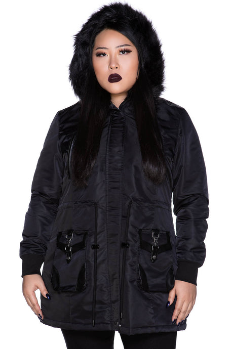 Killstar Unholy Trip Parka Jacket Plus Size - Kate's Clothing