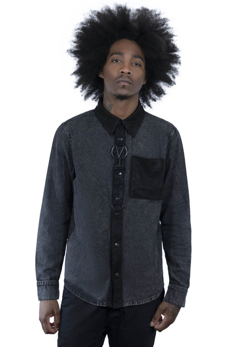 Killstar Unleash Me Mens Button Up Shirt - Kate's Clothing