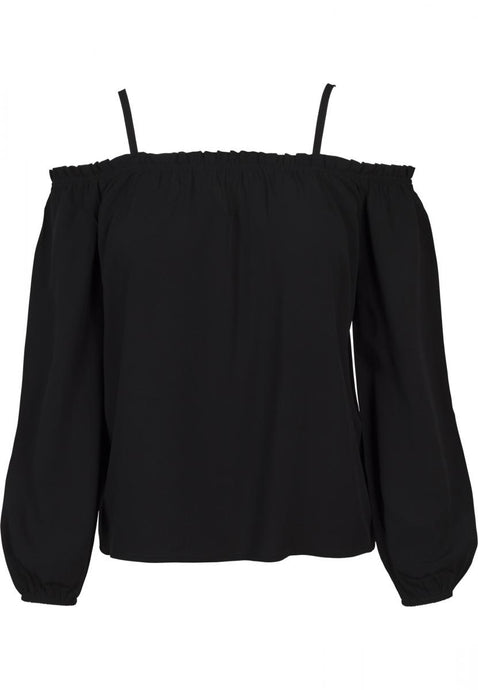 Urban Classics Plus Size Off the Shoulder Long Sleeve Top - Kate's Clothing
