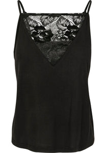 Urban Classics Ladies Spliced Lace Plus Size Vest Top - Kate's Clothing