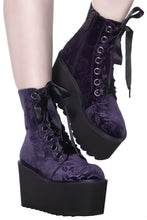 Load image into Gallery viewer, Killstar Vampire's Kiss Boots Plum - Kate's Clothing