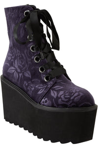 Killstar Vampire's Kiss Boots Plum - Kate's Clothing