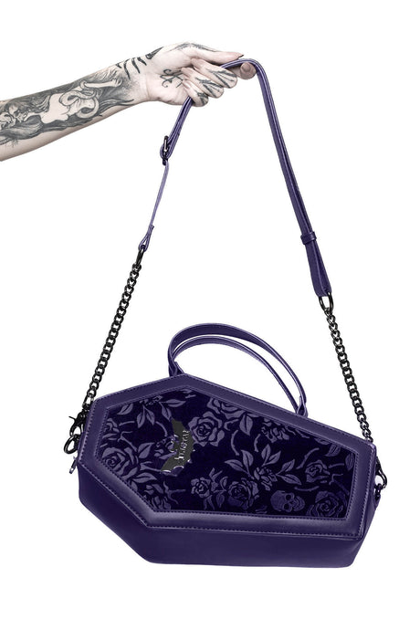 Killstar Vampire's Kiss Handbag Plum - Kate's Clothing