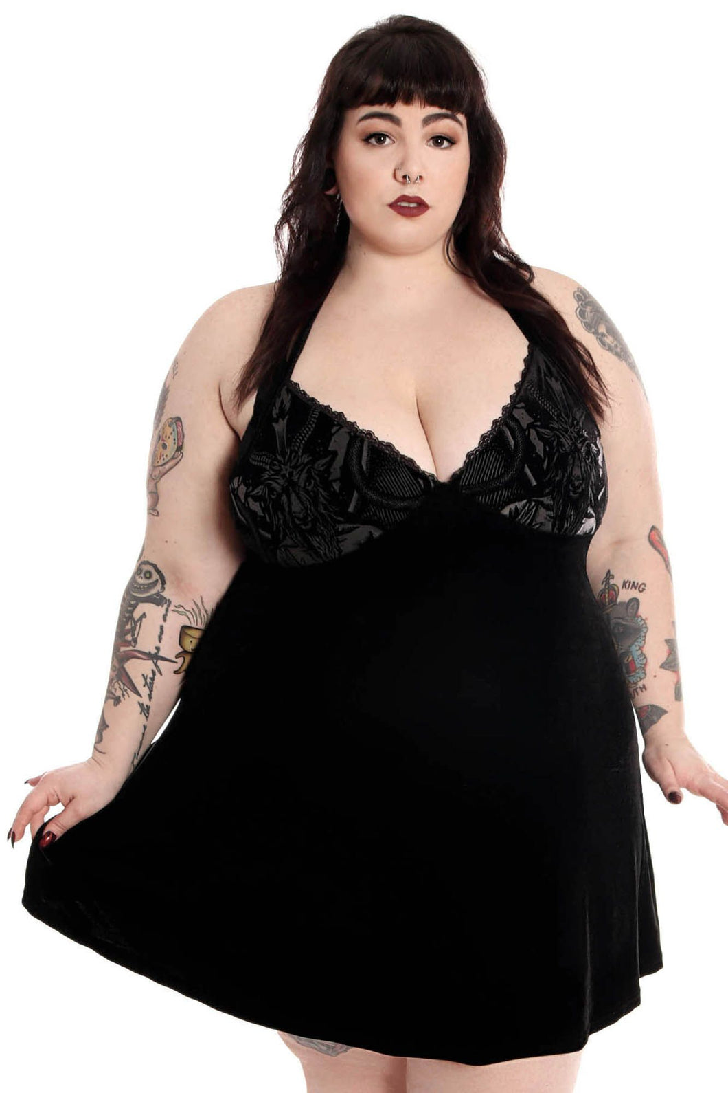 Killstar Plus Size Graveland Skater Dress - Kate's Clothing