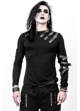 Load image into Gallery viewer, Necessary Evil Vidar Mens Buckled Strap Top - Kate's Clothing