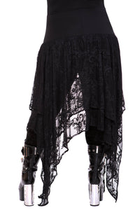 Killstar Visions Plus Size Lace Maxi Skirt - Kate's Clothing