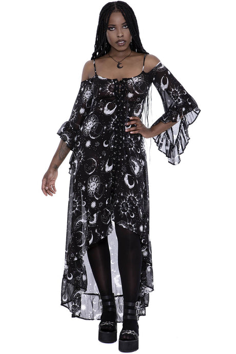 Killstar Astral Light Maxi Dress - Kate's Clothing