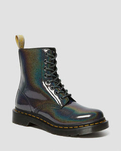 Dr. Martens Vegan 1460 Pascal Iridescent Boots - Gunmetal - Kate's Clothing