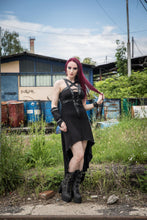 Load image into Gallery viewer, Necessary Evil Orizaba Plunge Pentagram Dress - Kate's Clothing