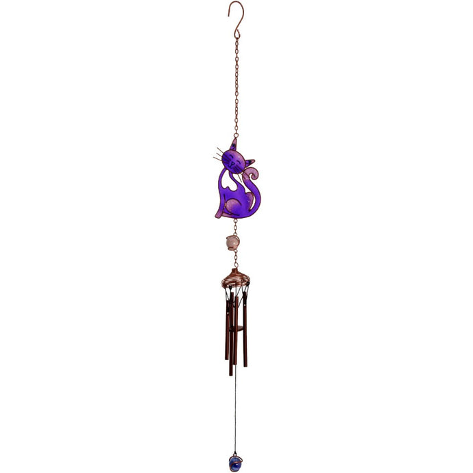 Gothic Gifts Purple Slinky Cat Windchime - Kate's Clothing