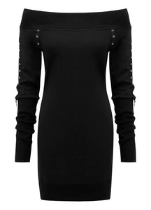 Killstar Wicked Riffs Sweater Dress - Kate's Clothing