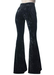 Killstar Wisteria Black Bell Bottoms - Kate's Clothing