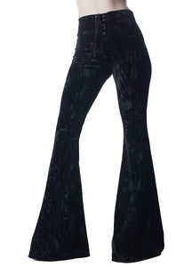 Killstar Wisteria Black Bell Bottoms
