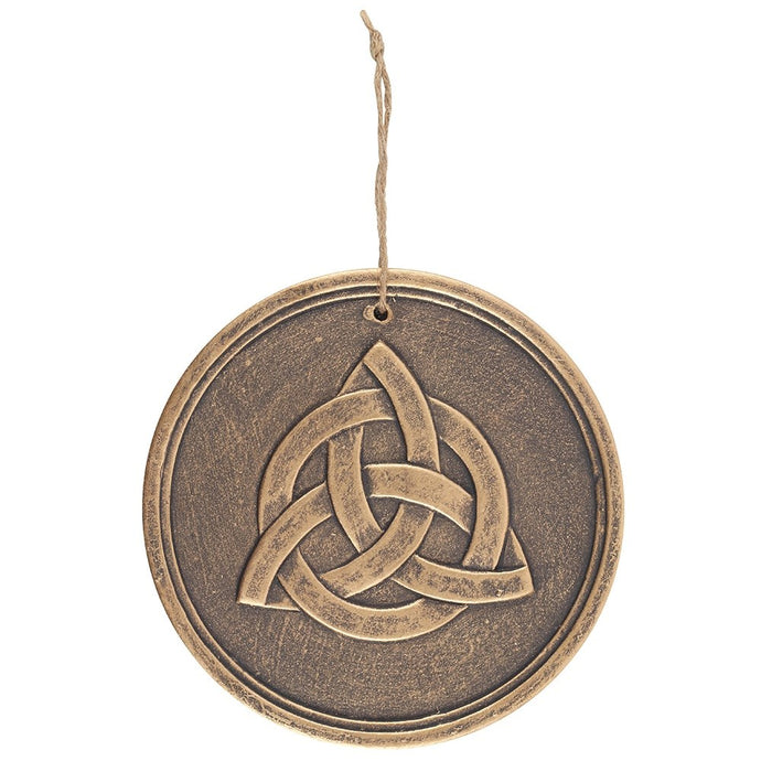 Gothic Gifts Triquetra Wall Plaque - Bronzed Effect