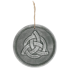 Load image into Gallery viewer, Gothic Gifts Triquetra Wall Plaque - Silvered Effect - Kate's Clothing
