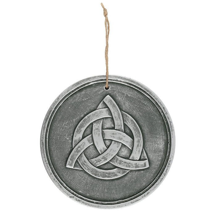 Gothic Gifts Triquetra Wall Plaque - Silvered Effect