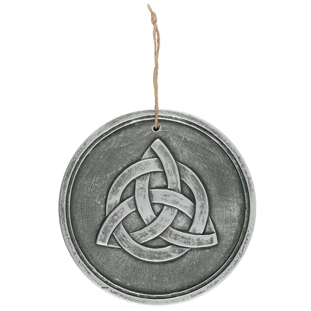 Gothic Gifts Triquetra Wall Plaque - Silvered Effect - Kate's Clothing