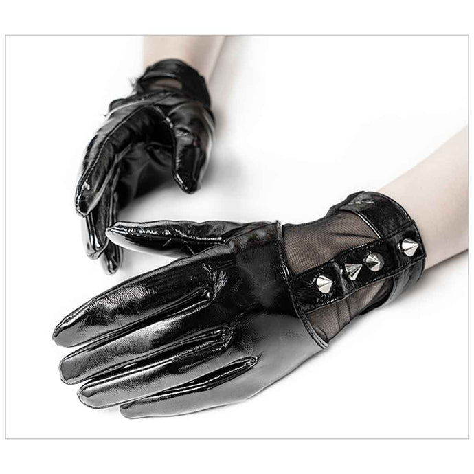 Punk Rave Silver Spike Gloves