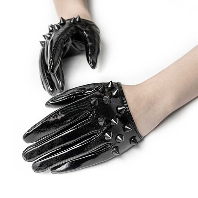 Punk Rave Black Spike Gloves