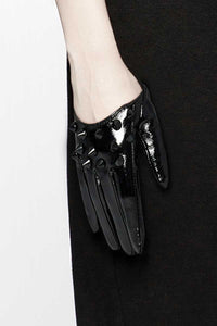Punk Rave Black Spike Gloves - Kate's Clothing
