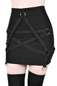 Killstar Harness Ur Power Mini Skirt - Kate's Clothing