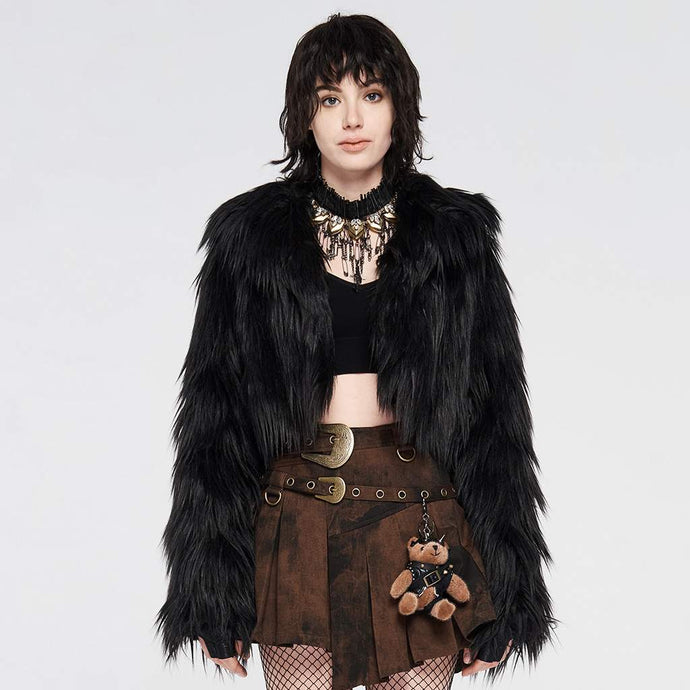 Punk Rave Braelynn Faux Fur Coat - Kate's Clothing