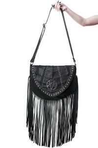 Killstar Metal Lyfe Fringe Bag - Kate's Clothing