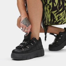 Load image into Gallery viewer, Koi Rimo Core Chunky Black Trainers - Kate's Clothing