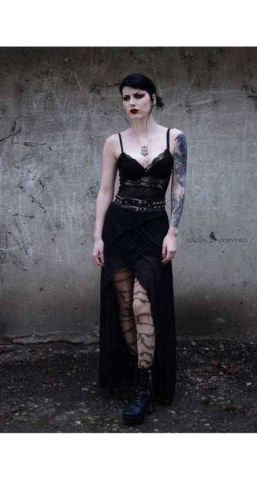 Pamela Mann Barbed Wire Gothic Tattoo Tights - Kate's Clothing