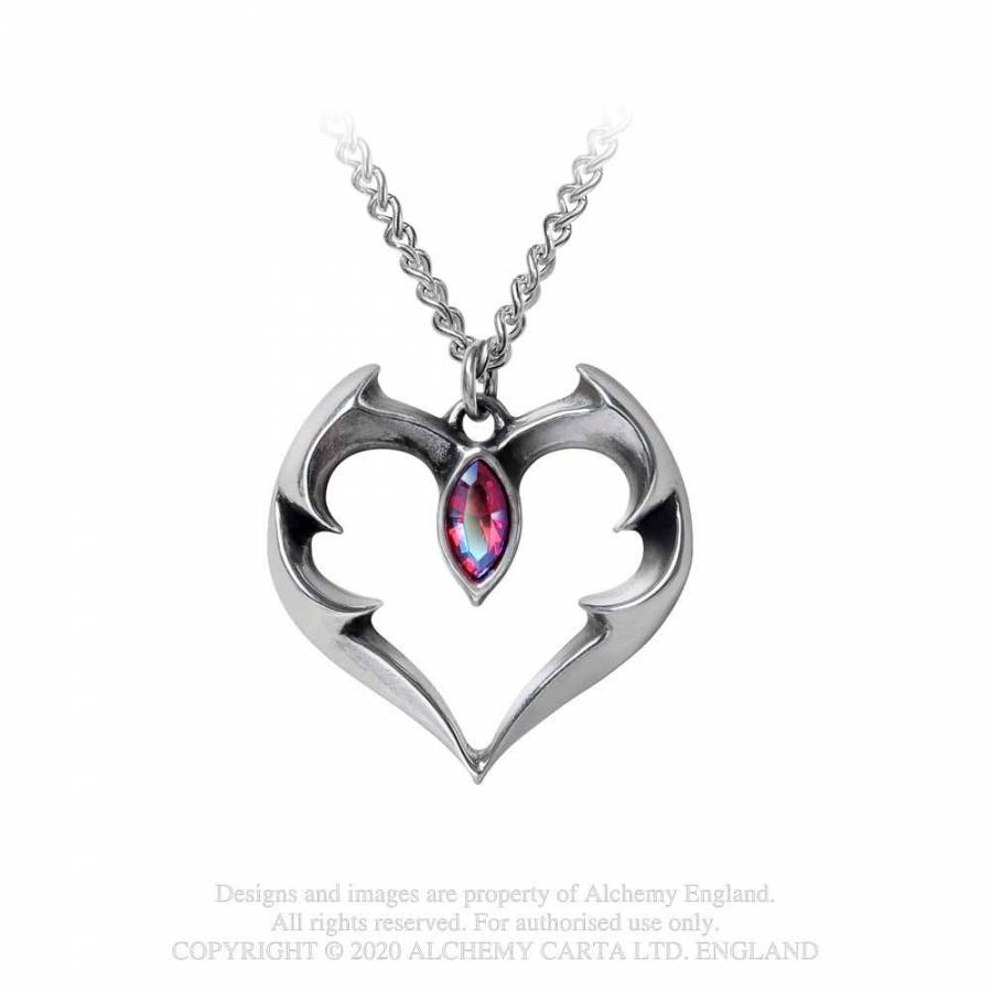 Alchemy Gothic Batheart - The Vampire's Kiss Pendant - Kate's Clothing