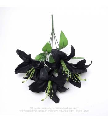Alchemy Gothic Black Lily Bunch - Kate's Clothing