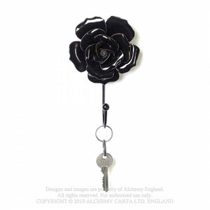 Alchemy Gothic Black Rose Hanger/Tie Back - Kate's Clothing