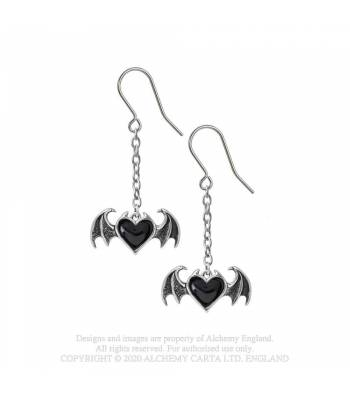 Alchemy Gothic Blacksoul Dropper Earrings