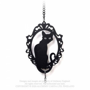 Alchemy Gothic Framed Black Cat Hanging Decoration