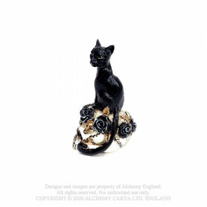 Alchemy Gothic Cat Skull: Miniature Ornaments - Kate's Clothing