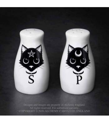 Alchemy Gothic Cats Salt & Pepper Set - Kate's Clothing