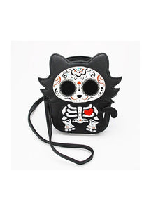 Sleepyville Critters Sugar Skull Cat Bag