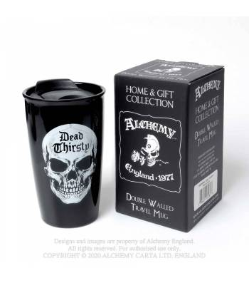 Alchemy Gothic Double Walled Dead Thirsty Travel Mug - Kate's Clothing